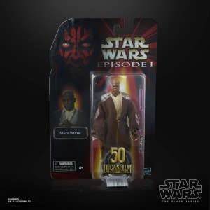 Mace Windu Figurka 15 cm Star Wars Episode I Black Series Lucasfilm 50th Anniversary