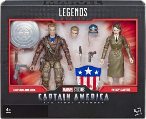 KAPITAN AMERYKA i PEGGY CARTER Figurki 15 cm Marvel Legends